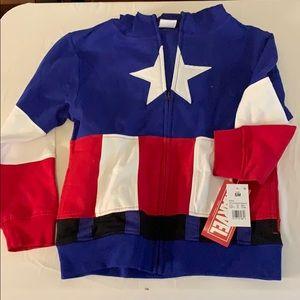 Disney Marvel Captain America Kids Hoodie w/Mask